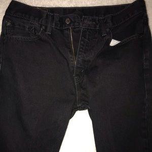 Vintage straight black Levi jeans